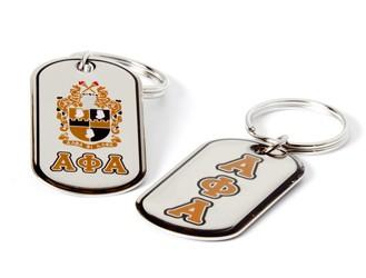 Dog Tag Keyring-Alpha Phi Alpha