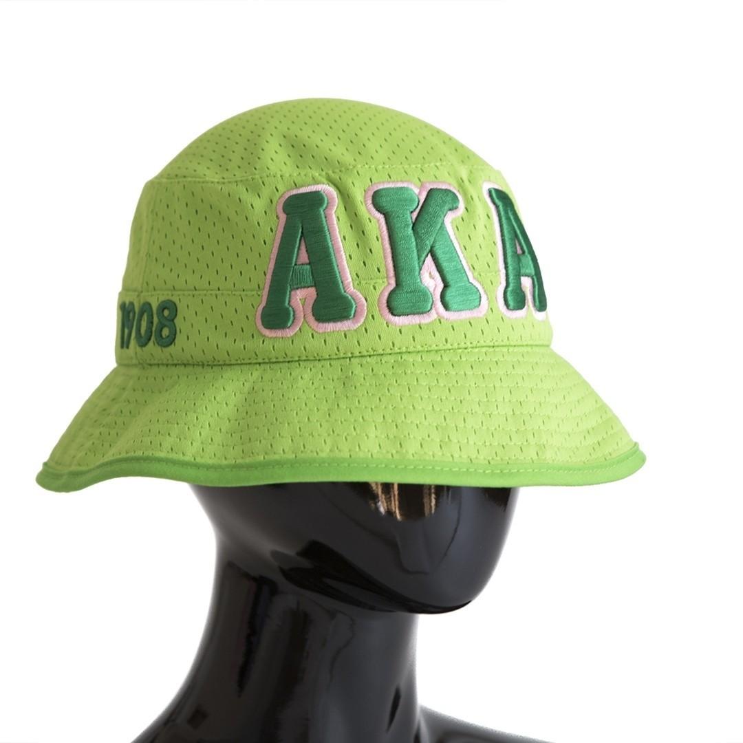 Embroidered Bucket Hat -- Alpha Kappa Alpha Green