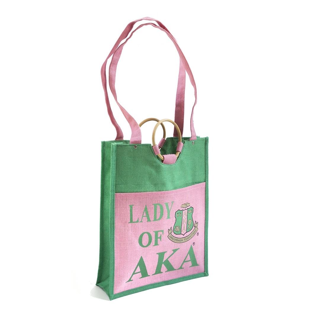 Pocket Jute Bag-Alpha Kappa Alpha
