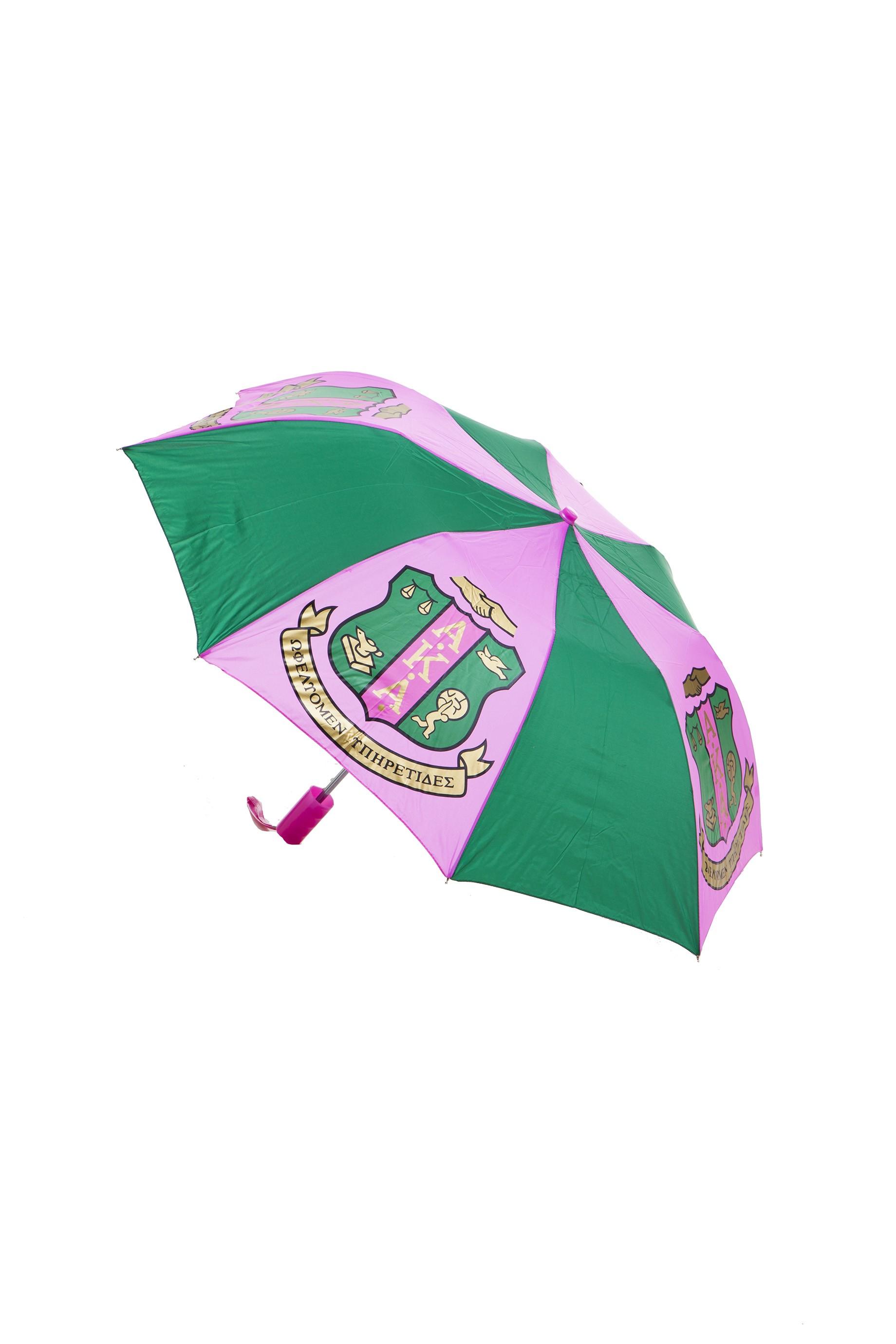 Folding Umbrella 10 Inch Shield-Alpha Kappa Alpha