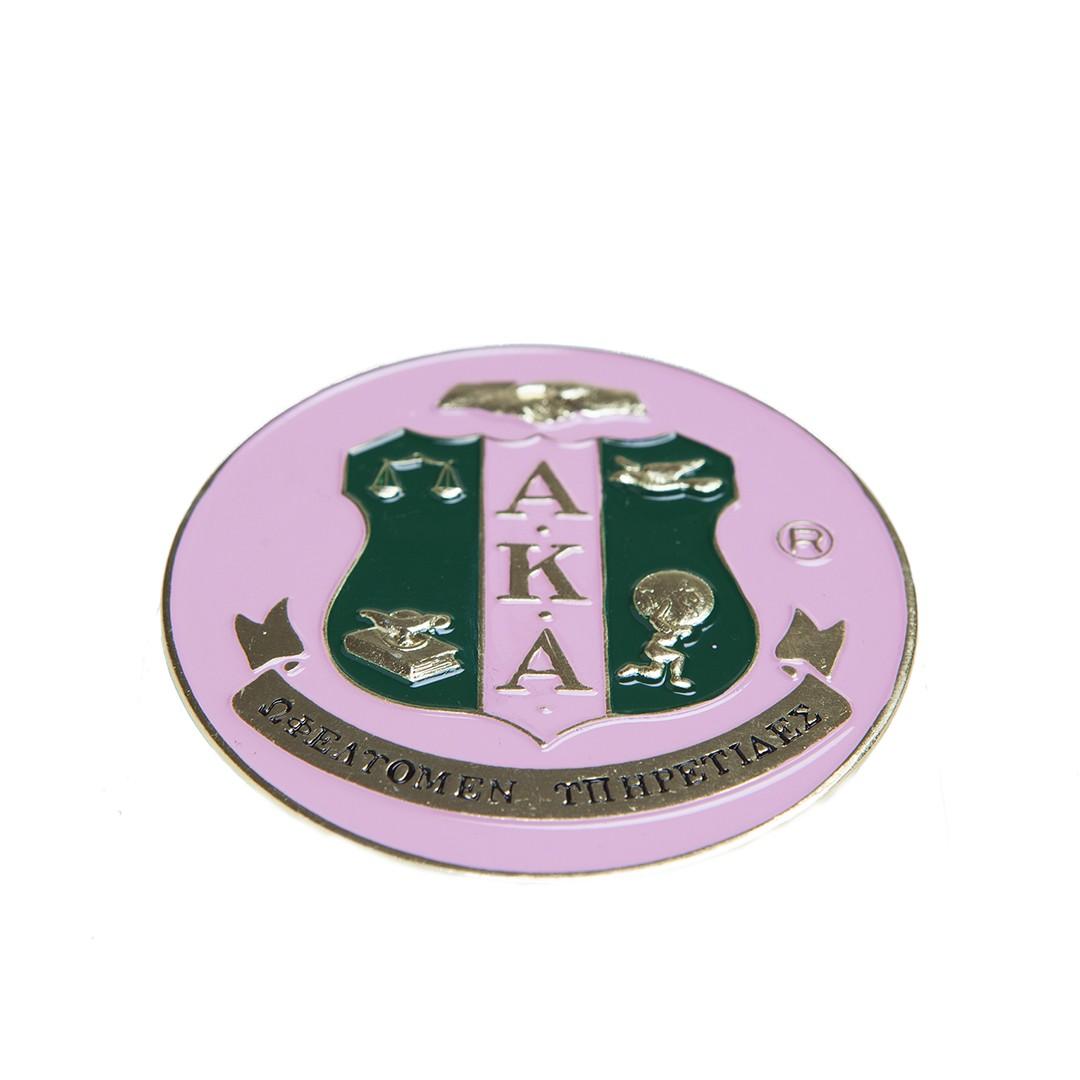 Round Car Badge-Alpha Kappa Alpha