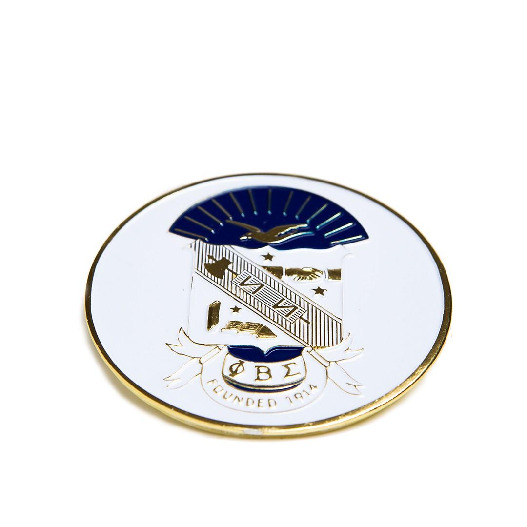 Round Car Badge-Phi Beta Sigma