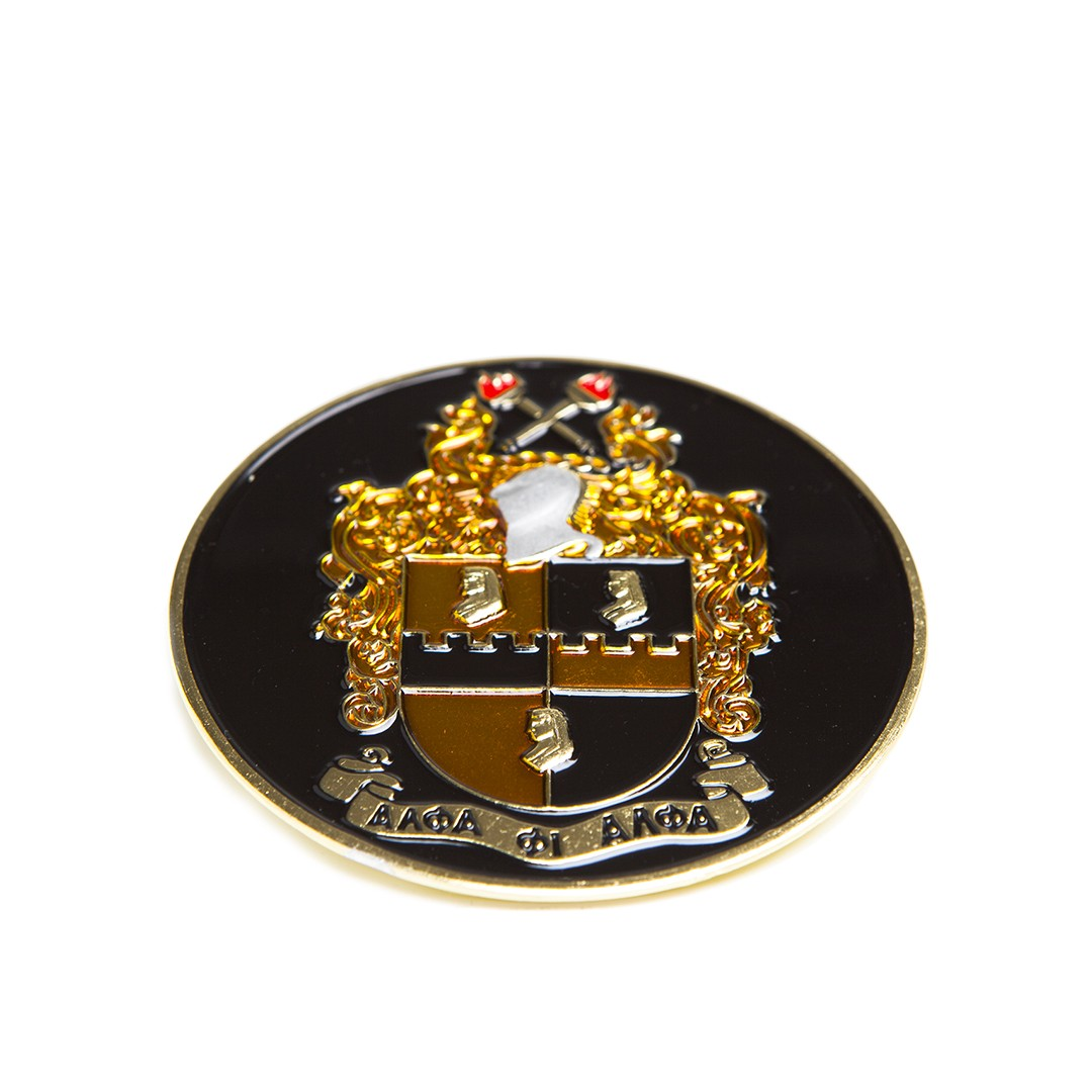 Round Car Badge-Alpha Phi Alpha