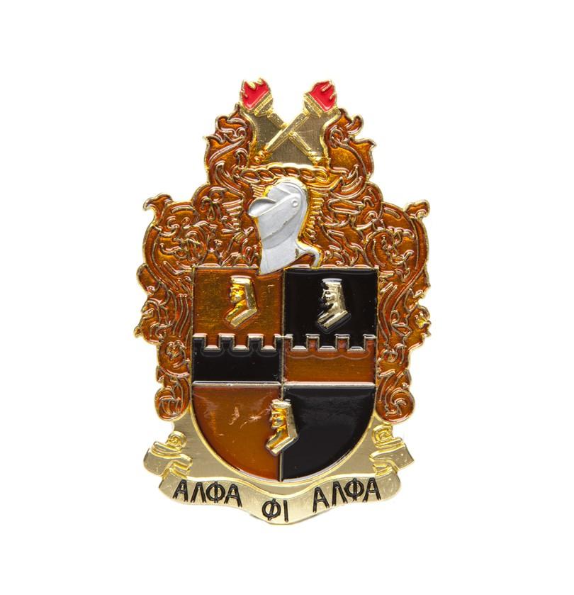 Die cut car badge-Alpha Phi Alpha