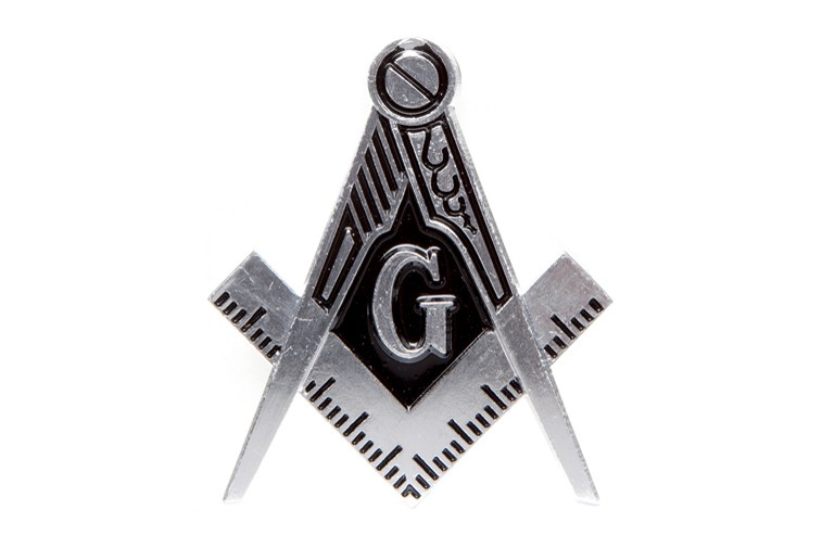 Die cut car badge-Mason Silver