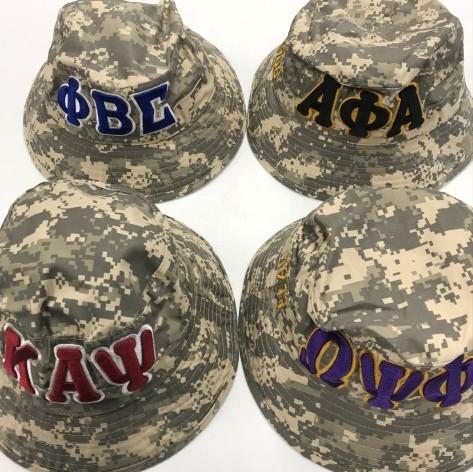 6fb45c4b1 Embroidered Bucket Hat -- Kappa Alpha Psi Digi-Camo
