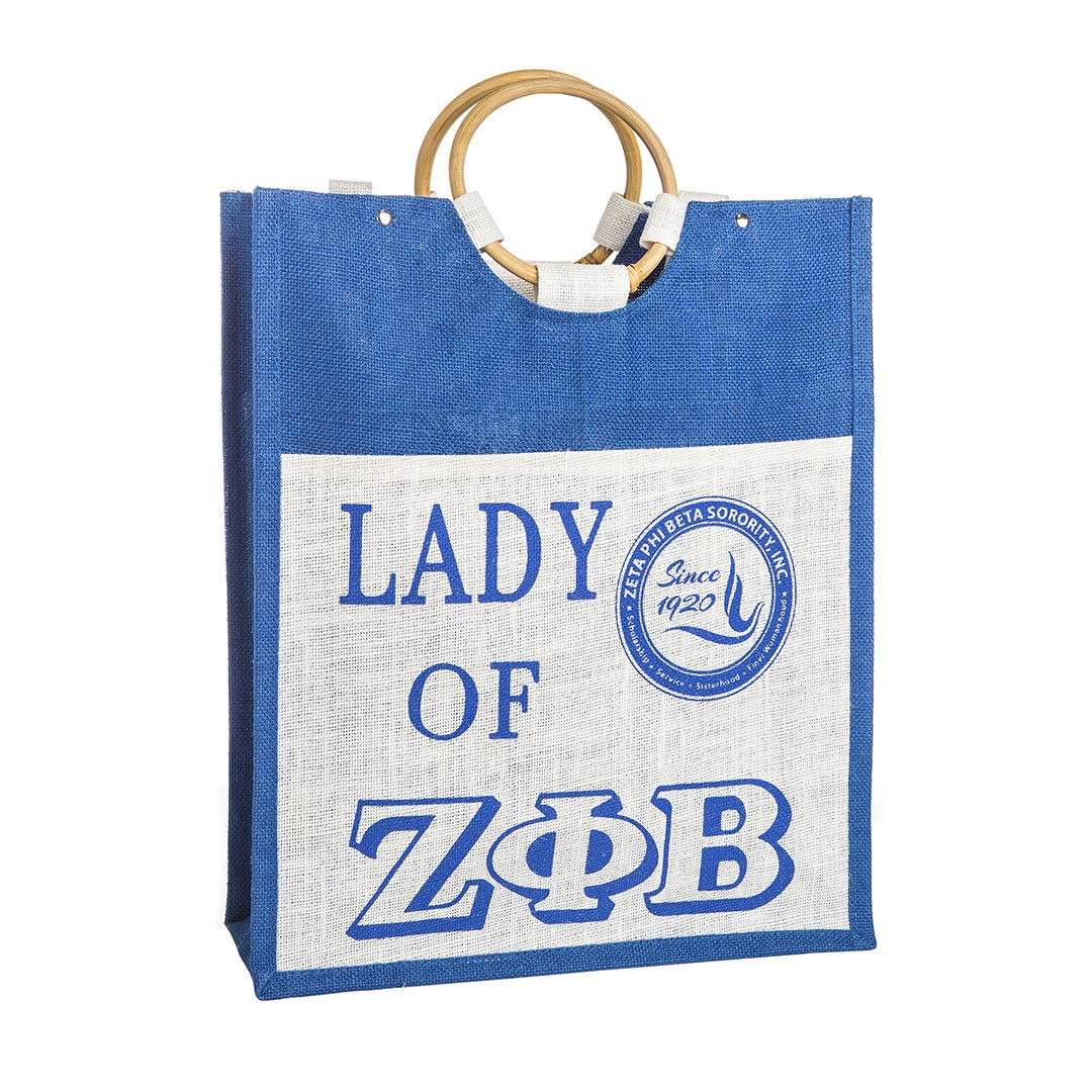 Pocket Jute Bag-Zeta Phi Beta