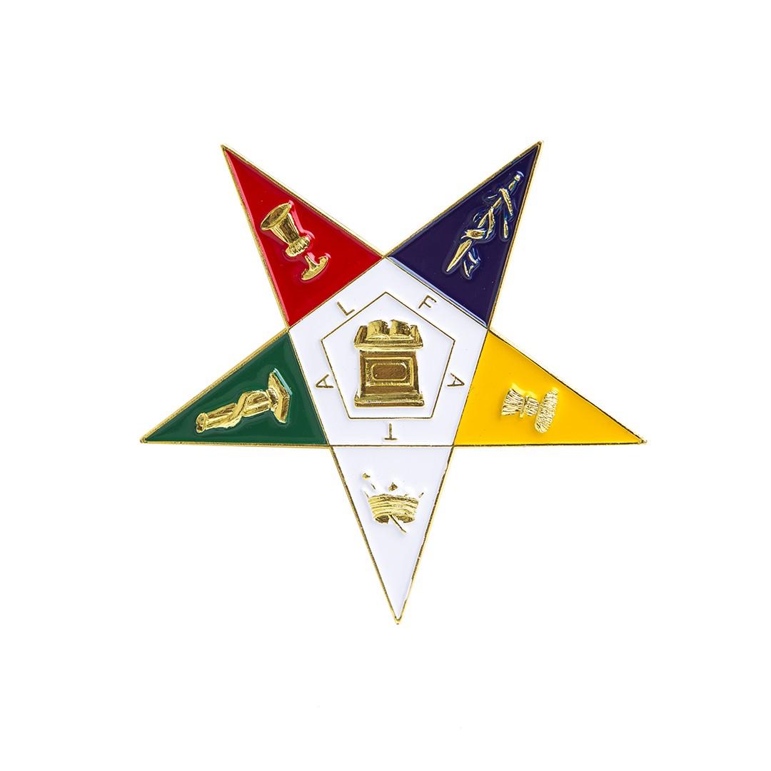 Die cut car badge-Eastern Star