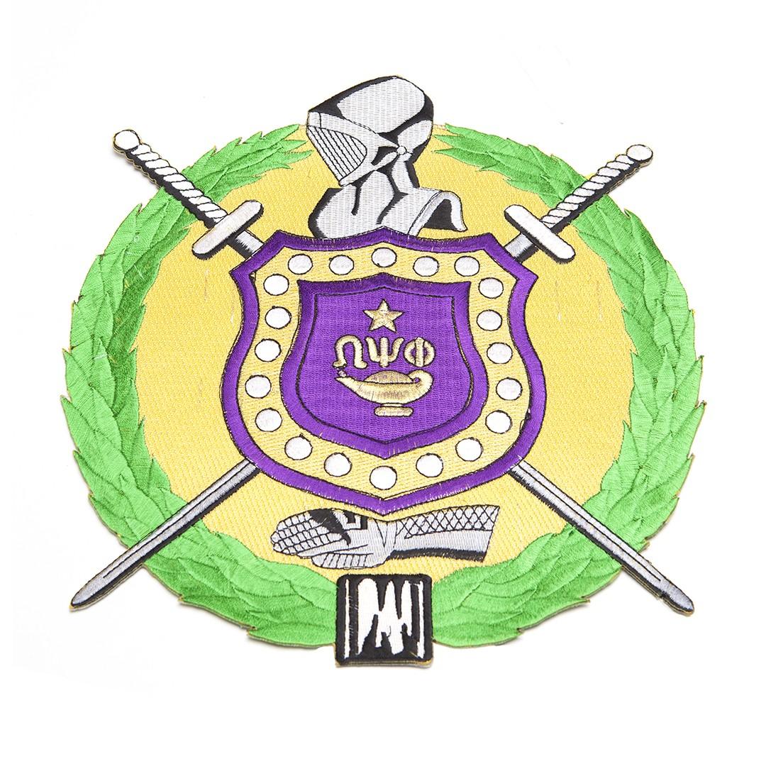 5 Inch Shield Omega Psi Phi