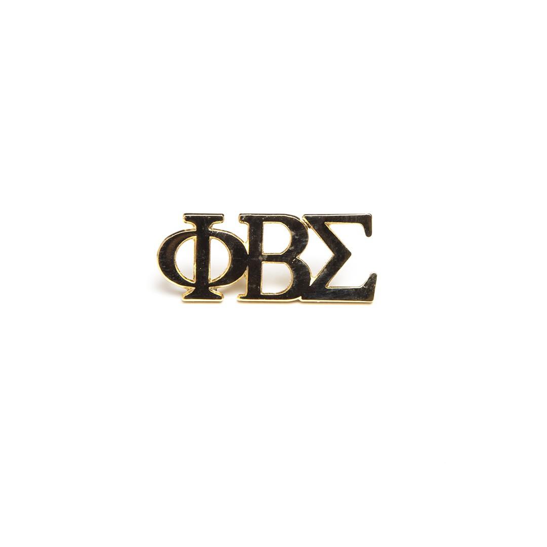 3 Letter Gold Pin-Phi Beta Sigma