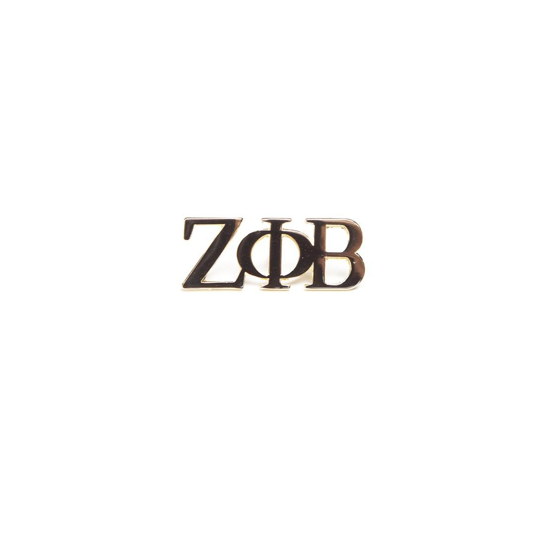 3 Letter Gold Pin-Zeta Phi Beta