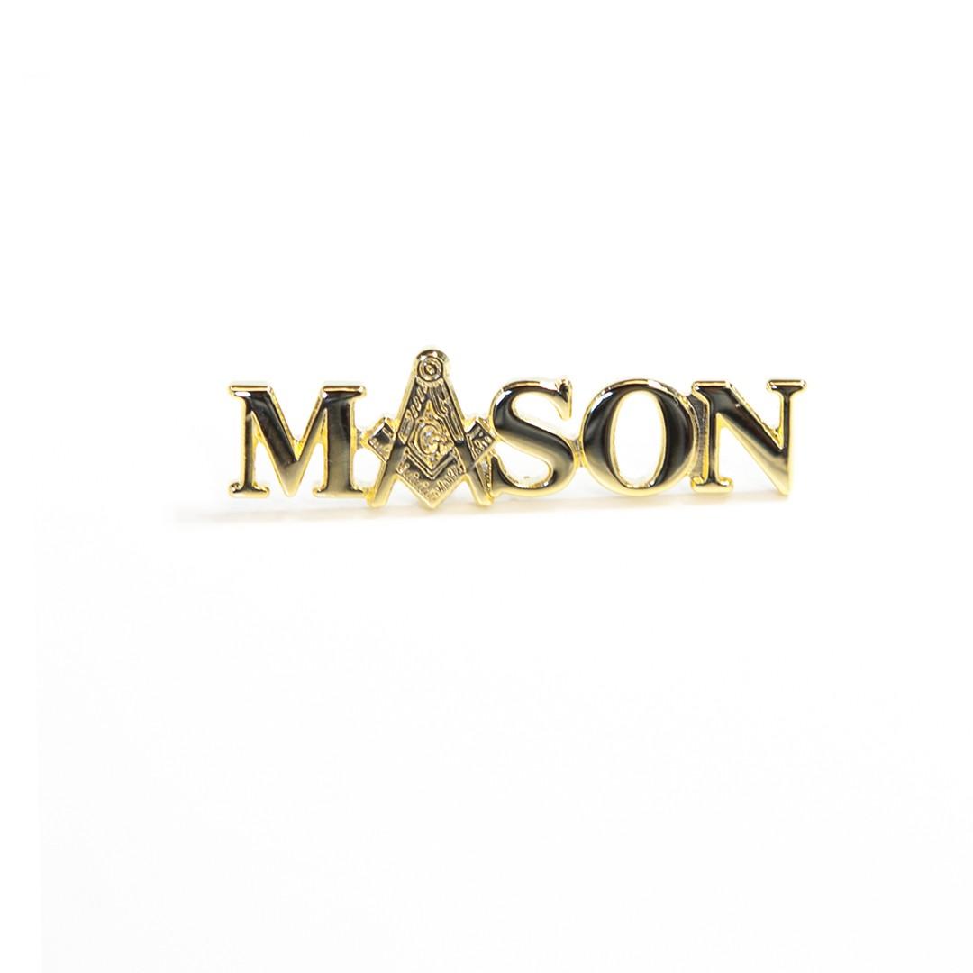 3 Letter Gold Pin-Mason