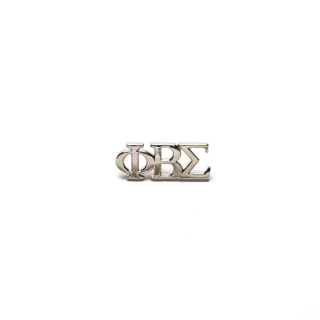 3 Letter Silver Pin
