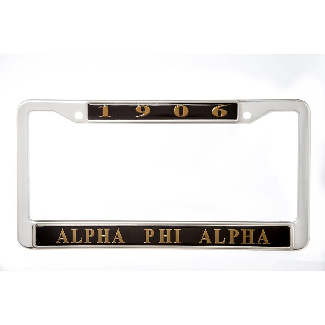 Metal License Frame-Alpha Phi Alpha