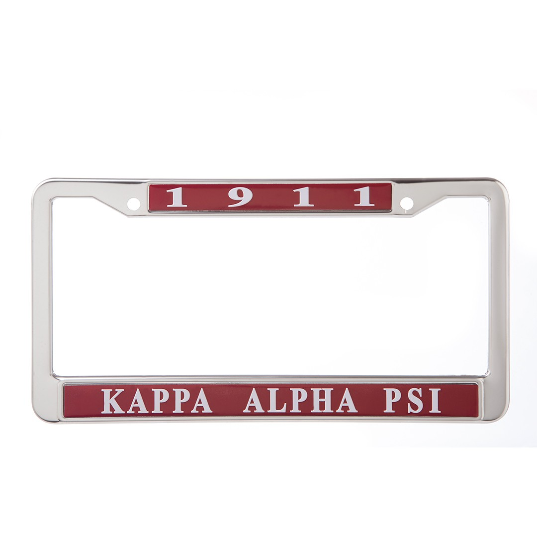 Metal License Frame-Kappa Alpha Psi