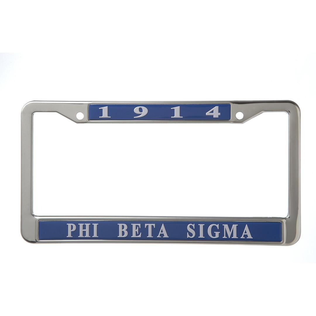 Metal License Frame-Phi Beta Sigma