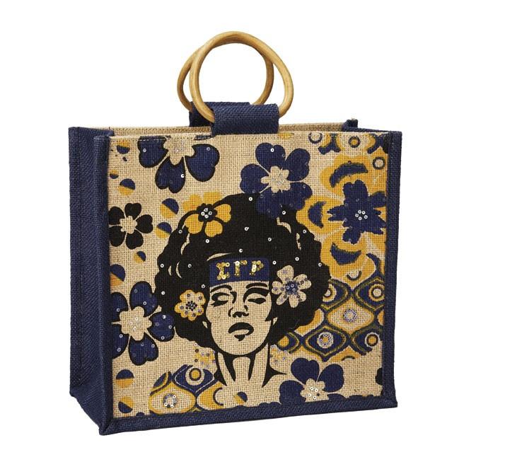 Mini Afrocentric Jute Bag