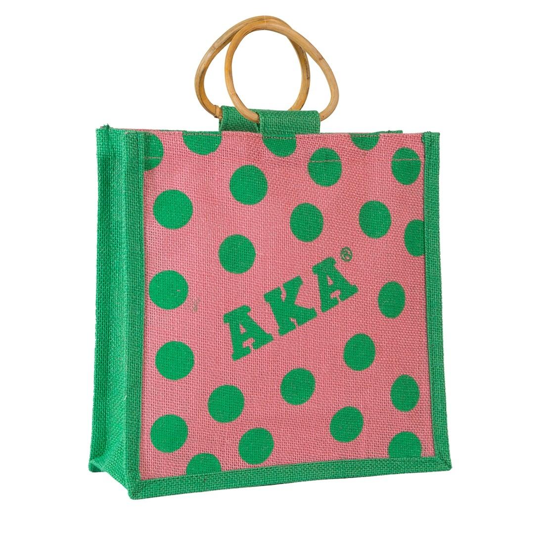 Mini Polka Dot Jute Bag