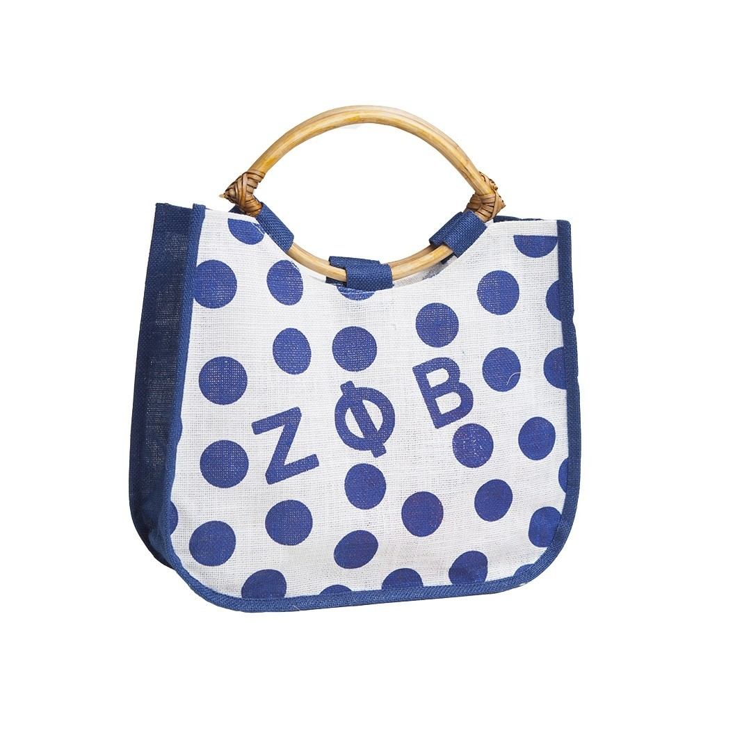 Polka Dot Jute Bag