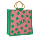 Mini Polka Dot Jute Bag
