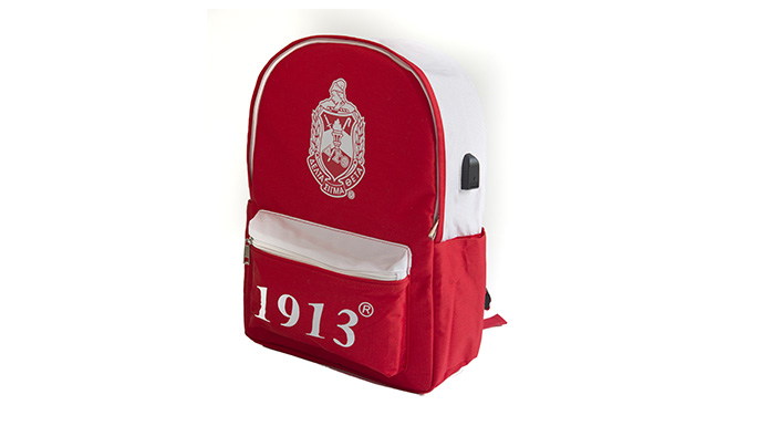 DST Red USB Port Backpack